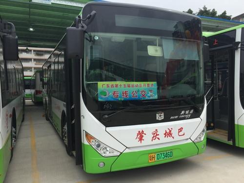"""相""""粤""""肇庆 批量中通10米电动公交服"""
