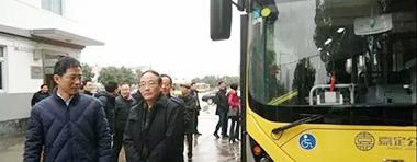 上海市交通委副主任杨小溪一行对申沃氢